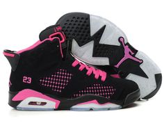 12d6b999fba19a Nike Air Jordan 6 Women Shoes Black Pink For Sale