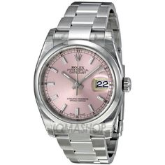 Rolex Datejust Automatic Pink Dial Stainless Steel Ladies Watch 116200pso. => http://www.amazon.com/Rolex-Datejust-Automatic-Stainless-116200PSO/dp/B007ISHT5G/watches0906-20/ => Brand, Seller, or Collection Name:Rolex,Part Number:116200PSO,Case material:Stainless Steel,Case diameter:36 millimeters,Dial color:Pink,Bezel material:Domed Stainless Steel,Warranty type:Contact seller of record