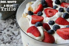 Red, White and Blue Trifle - Mix and Match Mama