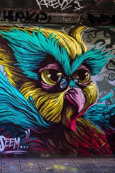 Street art by Zero, FatHeat, Transone & Böki at Step in the Arena 2015 in Eindhoven, a great event for street art in the Netherlands