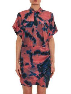 IRO Oceane tie-dye silk dress