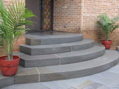 Bluestone Steps and Entry contemporary entry