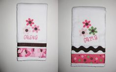 Stitched By Angie - Personalized Burp Cloths