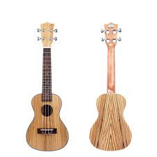 "New 23"" Exquisite Zebra Wood Concert Ukulele Musical Instrument Guitar 17 Fret"