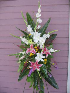 funeral spray   Funeral Flowers, Standing Sprays