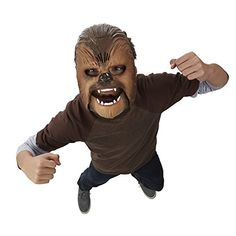 Star Wars Chewbacca Wookiee Sounds Mask - Funny Happy Birthday Chewbacca, Star Wars 7, Star Wars Kids, Ri Happy, Funny Happy, Helmet Light, Half Helmets, Star Wars Merchandise, Thing 1