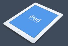 Today's freebie is a beautiful iPad mockup for showcasing your work. Free PSD designed by Creativedash.