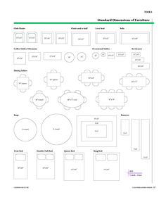 Furniture Dimensions For Residential Design Design Guru