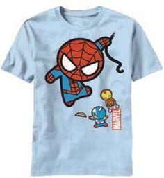 Marvel Kawaii Character Fly Mens T Shirt