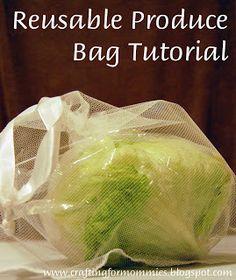 reusable produce bag tutorial