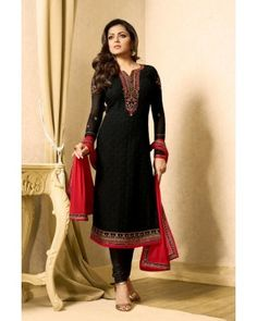Buy designer Straight Cut Salwar Suits at Indiwear. Select the best Straight Cut Salwar Kameez designs at best suits price. Eid Outfits, Indian Outfits, Salwar Suits, Salwar Kameez, Suit Prices, Indian Clothes Online, Pakistani Designers, Girls Wear, Cool Suits