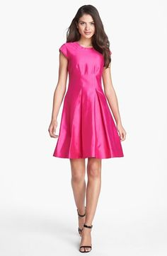 kate spade new york 'vail' silk blend fit & flare dress available at #Nordstrom