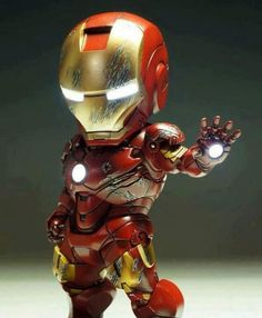 Mini Iron Man ~ I want this ! Marvel Dc, Marvel Comics, Marvel Cartoons, Mini Iron, Foto Art, Male Figure, Figure Model, Lol, Comic Character