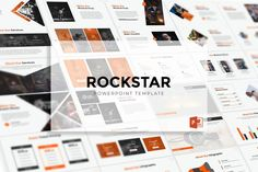 Rockstar Powerpoint Template- Premade color variation color ) Get it now!, an great Powerpoint template for multipurpose presentation business or personal Presentation Design Template, Business Presentation, Powerpoint Presentation Templates, Keynote Template, Booklet Design, Presentation Folder, Design Templates, Flyer Template, Brochure Design
