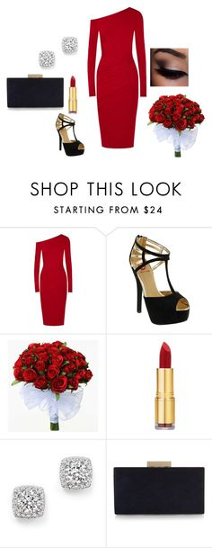 """""""Valentines Day"""" by chloe601p ❤ liked on Polyvore featuring Donna Karan, Red Circle, Isaac Mizrahi, Bloomingdale's, Monsoon, red, roses and reddress"""