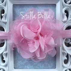 Pink Lace Rose Baby Headband, Adjustable Baby Headband, baby headband, Baby Girl Headband by BoutiqueStellaBella on Etsy https://www.etsy.com/listing/256035721/pink-lace-rose-baby-headband-adjustable