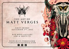 I'll be at Red Wolf Gallery for September's First Friday Artwalk hanging with my pal Dave Tell. We'll have brand new art prints and with banter for your enjoyment.  Come check us out at Red Wolf Gallery 6th and Santa Fe Denver CO on September 2nd!  #mattverges #mattbyrde #davetell #redwolfgallery #artshow #denver #artist  #art #gallery