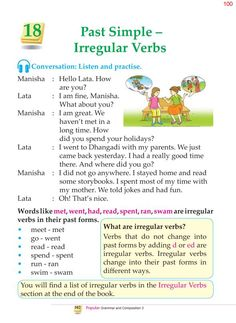 3rd Grade Grammar Past Simple Irregular Verbs