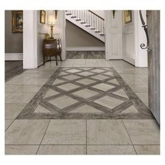 Marazzi Montagna Rustic Stone 18 In X Glazed Porcelain Floor And Wall Tile 1760 Sq Ft Case The Home Depotrustic Laminate Flooring Uk Entryway Tile Floor, Entry Tile, Entryway Flooring, Floor Design, Tile Design, House Design, Porcelain Wood Tile, Porcelain Floor, Wood Tile Floors