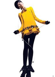 Upswept Kimono Jackets : Tao Okamoto Vogue China