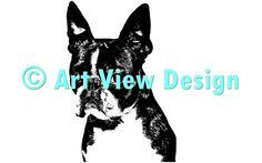 Our Boston Terrier Design || Original and one of a kind || Pattern can be used for everything and every cutting machine || ♡