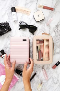 Away Travel Mini Cases are back for a limited time. A closer look at the perfect travel accessory to carry in-flight beauty essentials and more. Beauty Essentials, Travel Essentials, Beach Bag Essentials, Makeup Bag Essentials, Travel Packing, Travel Bags, Packing Tips For Vacation, Travel Pouches, Suitcase Packing