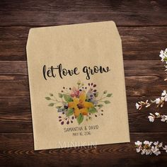 Wedding Seed Packets Let Love Grow Bouquet – W-A119