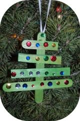 Christmas tree popsicle craft