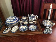 Blue Chinaware, Blue And White China, Tea Sets, Japanese Art, Cups, Chinese, Collections, Ceramics, Dishes