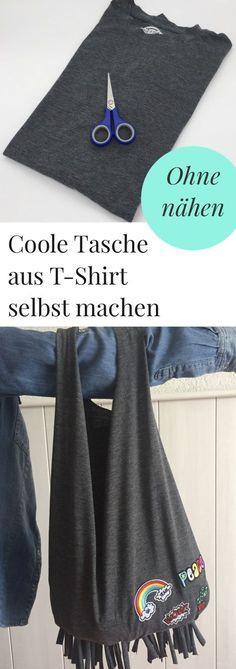 DIY: Tasche aus einem T-Shirt ohne nähen selbst machen