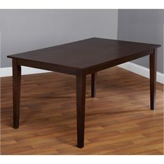 The Havana Caron Large dining table offers a contemporary style table that will make an attractive addition to your dining area. This table is constructed of solid rubber wood and comes in a beautiful espresso finish.