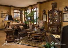 Michael Amini Vizcaya Living Room Collection   Tuscan Decor ...