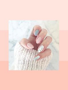 pink grey and white almond nails cute nails pinterest white almond nails almond nails. Black Bedroom Furniture Sets. Home Design Ideas