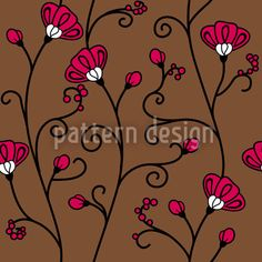 Ipomoea created by Martina Stadler offered as a vector file on patterndesigns.com Vector Pattern, Pattern Design, Vector File, Surface Design, Exotic, Seeds, Patterns, Inspiration, Block Prints