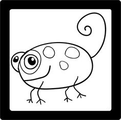 Learn to Draw a Cartoon Chameleon at the Expressive Monkey.  Drawing sheets