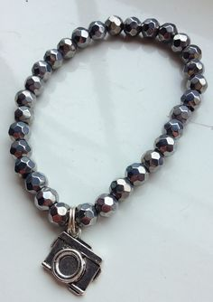 Silver Camera Charm Stacking Bracelet by ElizaSophieDesigns Charmed, Jewellery, Bracelets, Silver, Bangles, Jewelery, Money, Jewlery, Bracelet