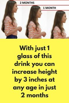 With just 1 glass of this drink you can increase height by 3 inches at any age in just 2 months This is a magical drink that will boost your growth hormones and will increase your height. In just 2 months of regular consumption of this drink you can see t Increase Height After 25, Increase Height Exercise, Get Taller, How To Grow Taller, Health And Beauty Tips, Health Tips, Health Facts, Health Care, How To Get Tall