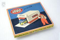 """LEGO SET 236 """"GARAGE"""" / 1957 / OVP / alt / H0 / 1:87 / Vintage / old / w/ box   eBay"""