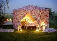 night time tent party