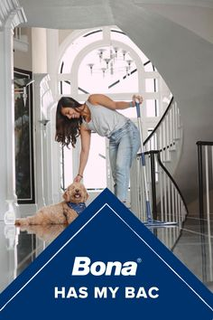 """The best tricks & tips are the ones that you learn from your parents and mine have been using Bona products for years. So when we bought our home 5 years ago Bona was the only thing I used on our hardwoods & now I can use it on our tile surfaces too! Their new antibacterial hard-surface cleaner doesn't have any harsh chemicals and kills 99.9% of bacteria to keep our home extra clean & safe."" ~ Sabrina Molu"