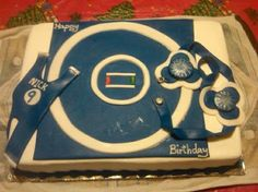 """Wrestling mat cake for """"Wrestling Matt"""""""