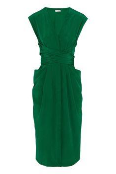 Wish List: Vionnet's Emerald Silk Wrap-Dress -- The Cut