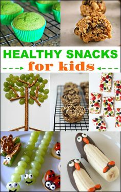 Encourage kids to make better snacks choices with these adorable and yummy healthy snacks for kids. Healthy never tasted so good!