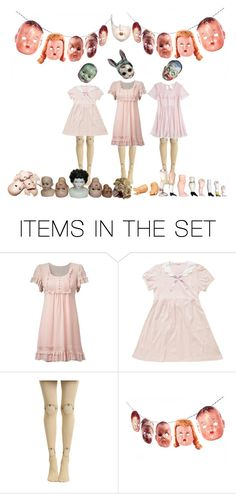 """doll parts"" by larrypossum ❤ liked on Polyvore featuring art"