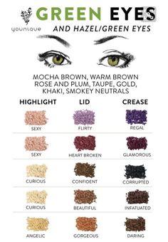 How to enhance green/hazel eyes