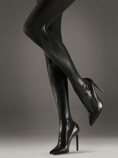 Shop tights and hosiery in the Wolford online shop. Stockings, tights, stay-ups and more. Wolford Tights, Opaque Tights, Black Tights, Pantyhose Heels, Stockings Heels, Pantyhose Outfits, Sexy High Heels, Fashion Tights, High Heels