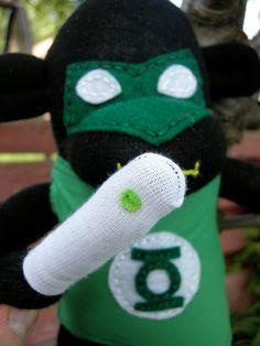 Super hero sock monkeys - gotta love 'em!