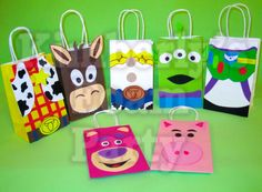 7 Toy Story party bags by kimberlysfoamparty on Etsy, $19.95