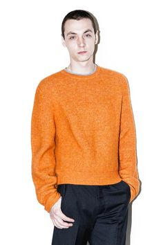 Men's Sweaters. See more. 3.1 PHILLIP LIM Cropped boxy pullover - Orange. # 3.1philliplim #cloth #