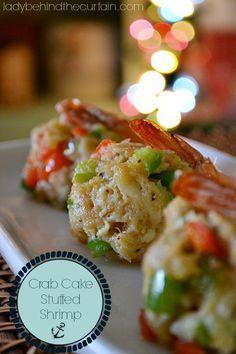 Crab Cake Stuffed Shrimp